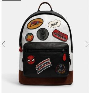 NWT Coach Marvel West Backpack Canvas superheroes